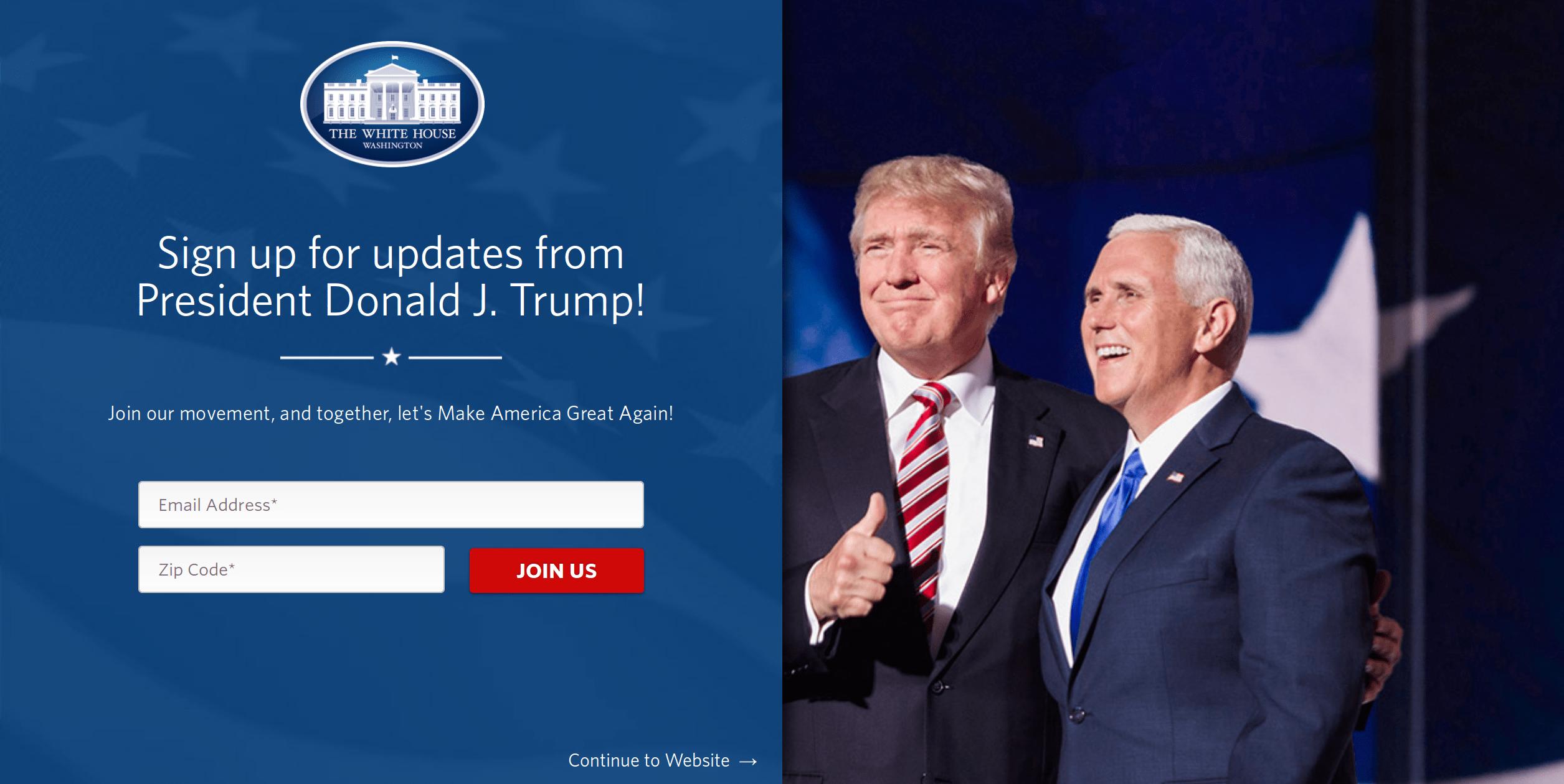 ترامپ و پنس در صفحه اقلیتهای جنسی سایت کاخ سفید