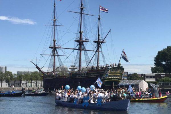 قایق ایران در رژه افتخار آمستردام
